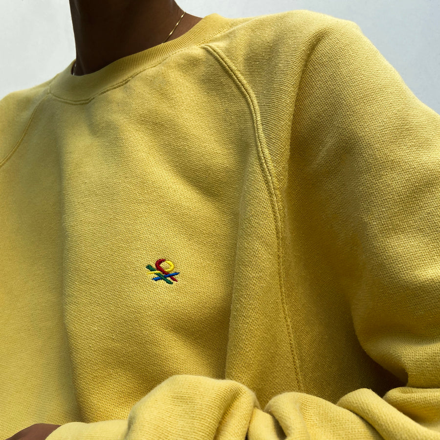 Vintage United Colors of Benetton Lemon Yellow sweat