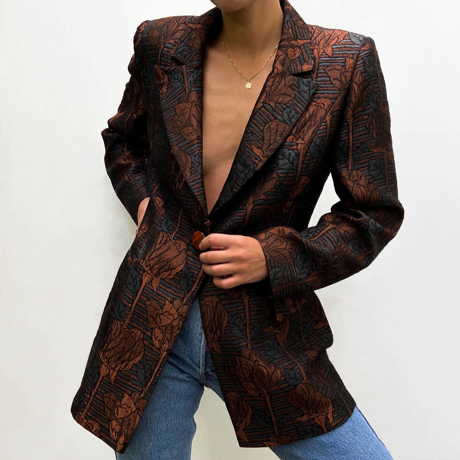 Vintage Baroque Fitted Blazer