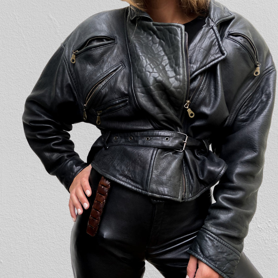 Vintage 80's Genuine Leather jacket