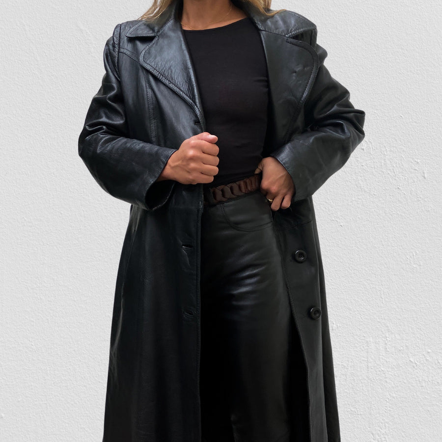 Vintage Genuine Leather Matrix coat N.002
