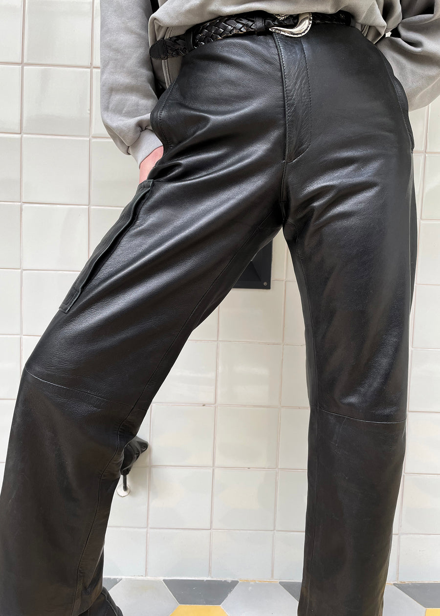 Vintage Baggy leather trousers