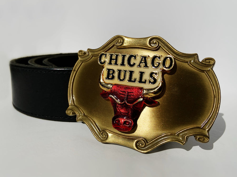 Rare Vintage Chicago Bulls leather belt
