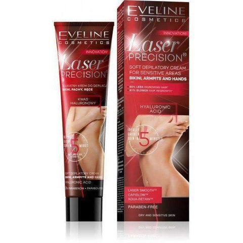 EVELINE- LASER PRECISION DEPILATORY CREAM FOR SENSITIVE SKIN 125 ML - Shopnonstop