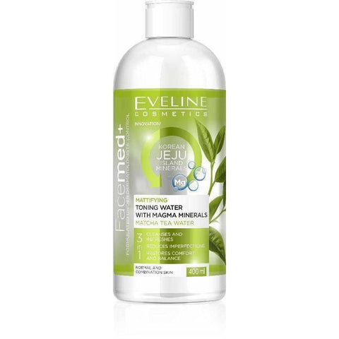 EVELINE-MATTIFYING TONING WATER WITH MAGMA MINERALS 400 ML - Shopnonstop