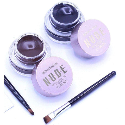 MILLION PAULINE NEW NUDE GEL EYELINER BLACK & BROWN 2 IN 1 - Shopnonstop