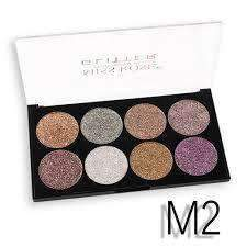 MISS ROSE 8 COLOR GLITTER EYESHADOW - Shopnonstop