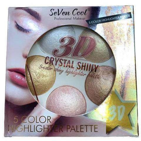 SEVEN COOL- 5 COLOR HIGHLIGHTER PALETTE - Shopnonstop