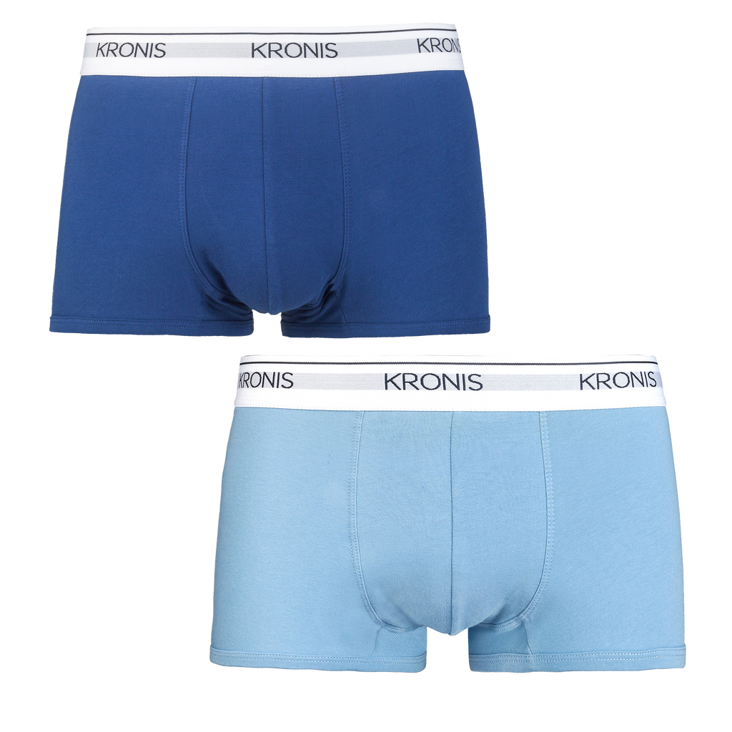 KRONIS Low Rise Trunks - Navy Blue + Light Blue