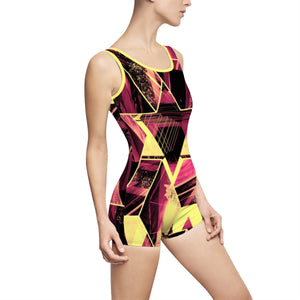 Facets Remix Fire Vintage Swimsuit