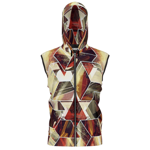 Facets Remix Sleeveless Hoodie