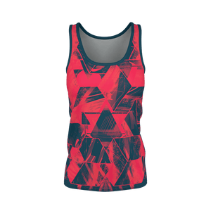 Facets Remix Red Women's Tank