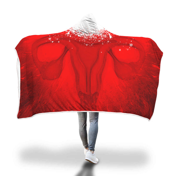 Red Robe Planned Parenthood Abortion Rights Hooded Blanket
