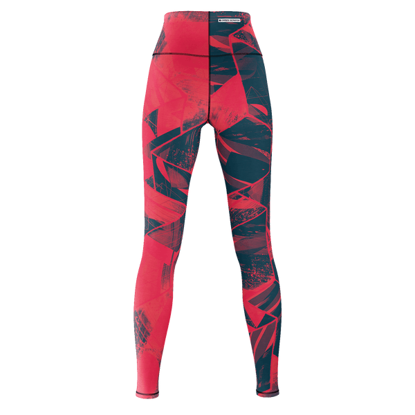 Facets Remix Red Yoga Pants