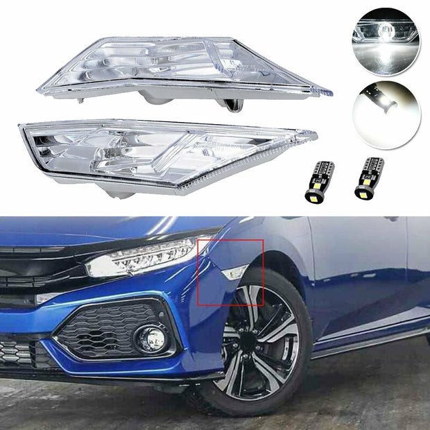 1 Pair of ABS shell car LED Side Marker Light T10 LED Bulbs helium white LED bulb Car turn signal light Car accessories
