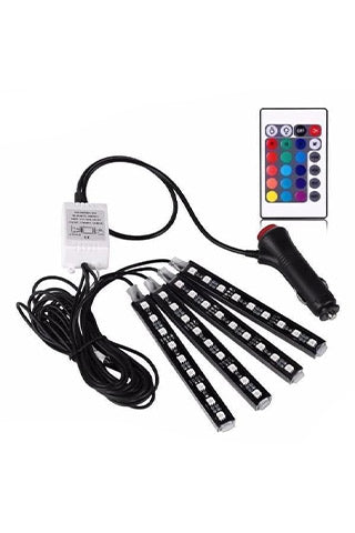 LED 7 Color Car Interior floor Lighting Strips