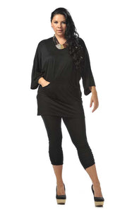 Pocketed Tunic Top