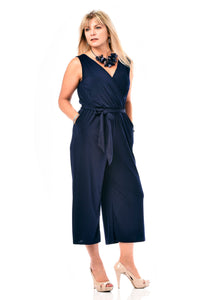 Pocketed Capri Jumpsuit