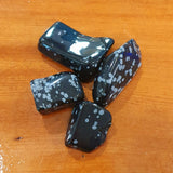 Tumbled Crystals - Snowflake Obsidian