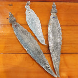 Metal Long Leaf Incense Holder with statue