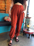 Coco Button Pants - Rusty Orange