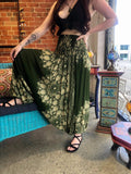 Harem Pants -  Green Flower