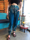 Coco Button Pants Sky Blue Paisley