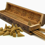 Wooden Box Long Incense Holder