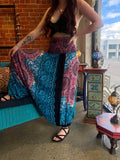 Harem Pants -  Two Tone Blue /Pink Mandala