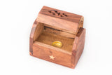 Wooden Cone Box Incense Holder