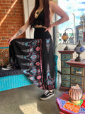 Harem Pants -  Black Paisley