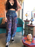 Alibaba Pants - Two Tone Purple / Blue Mandala