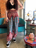 Alibaba Pants - Two Tone Red / Blue Mandala