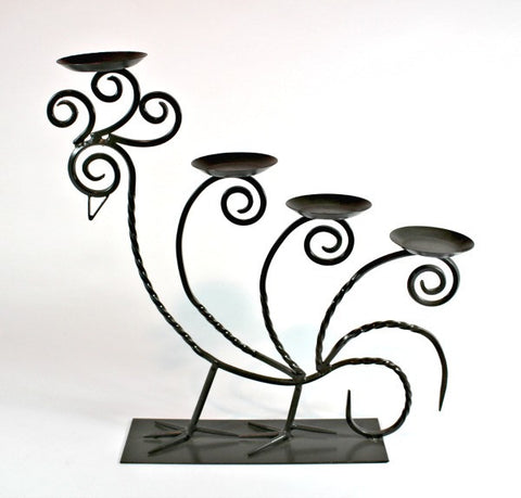 Decorative Peacock Candle Holder