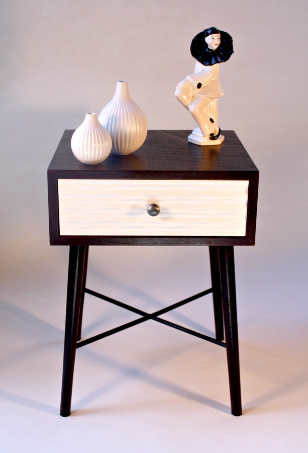 Espresso And White Modern Accent Table
