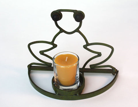 Metal Froggy Candle Holder