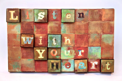 Listen With Your Heart Wall Canvas