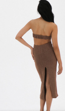 Load image into Gallery viewer, Natalie Rolt Olympia Dress in Bronze Sparkle