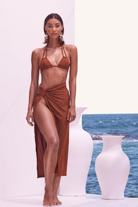 Sonya Swim Zahara Set in Bronze Shimmer