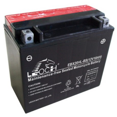 EBX20HL-BS ATV / Motorcycle AGM Battery by Alpine Powersports