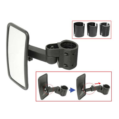 Rectangle Side Mirror Set For SXS / UTV With Round Roll Bars (Pair)