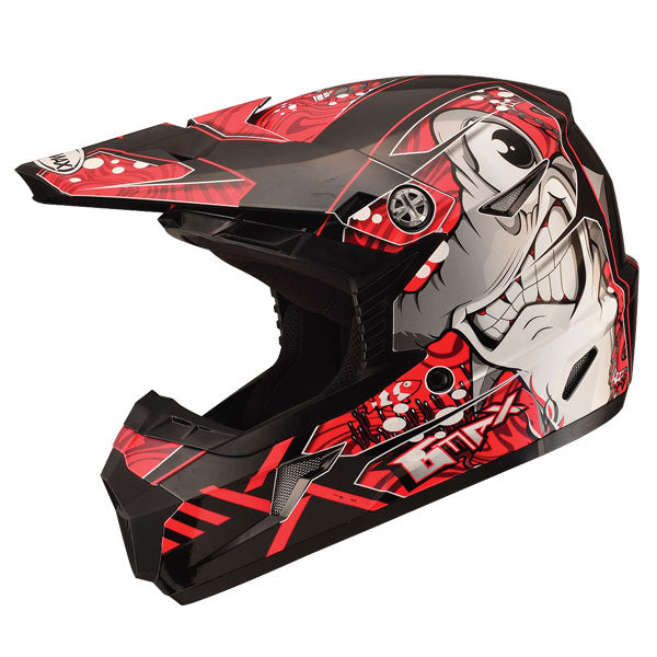 GMAX MX46 Youth Sharked MX Helmet Red by Alpine Powersports
