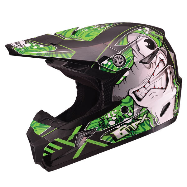 GMAX MX46 Youth Sharked MX Helmet Green by Alpine Powersports