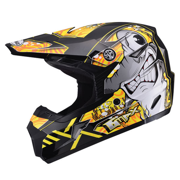 GMAX MX46 Youth Sharked MX Helmet Yellow by Alpine Powersports