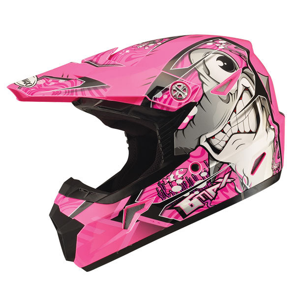 GMAX MX46 Youth Sharked MX Helmet Pink by Alpine Powersports