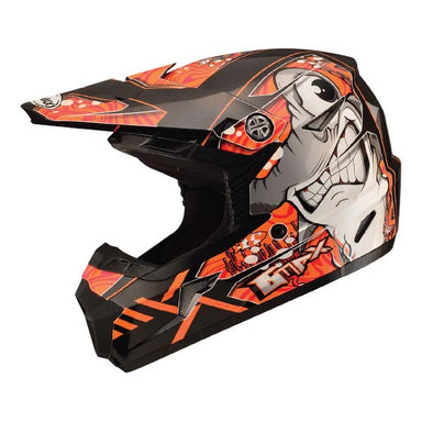 GMAX MX46 Youth Sharked MX Helmet Orange by Alpine Powersports