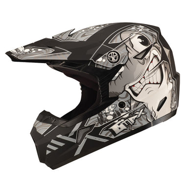 GMAX MX46 Youth Sharked MX Helmet Black by Alpine Powersports