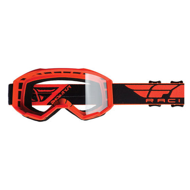 Fly Focus Goggles Orange Hi-Vis/Clear Lens by Alpine Powersports