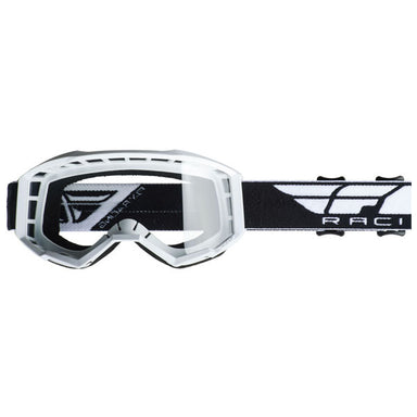 Fly Focus Goggles White/Clear Lens by Alpine Powersports