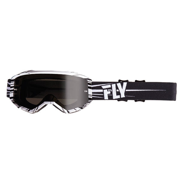 Fly Racing Zone Goggles Black/White by Alpine Powersports