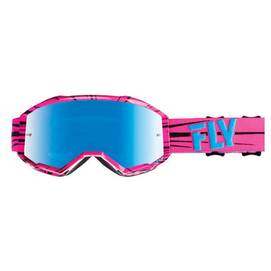 Fly Racing Zone Goggles Pink/Teal by Alpine Powersports